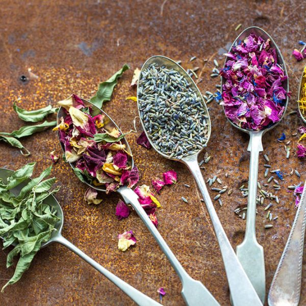 lavender-and-other-petals-on-vintage-spoons
